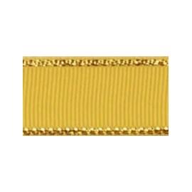 Fita de gorgurao borda dourada melaço  152200  2.5 cm c/ 10 mts