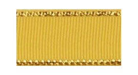 Fita de gorgurao borda dourada ref.152200 - 2.5 cm c/ 10 mts