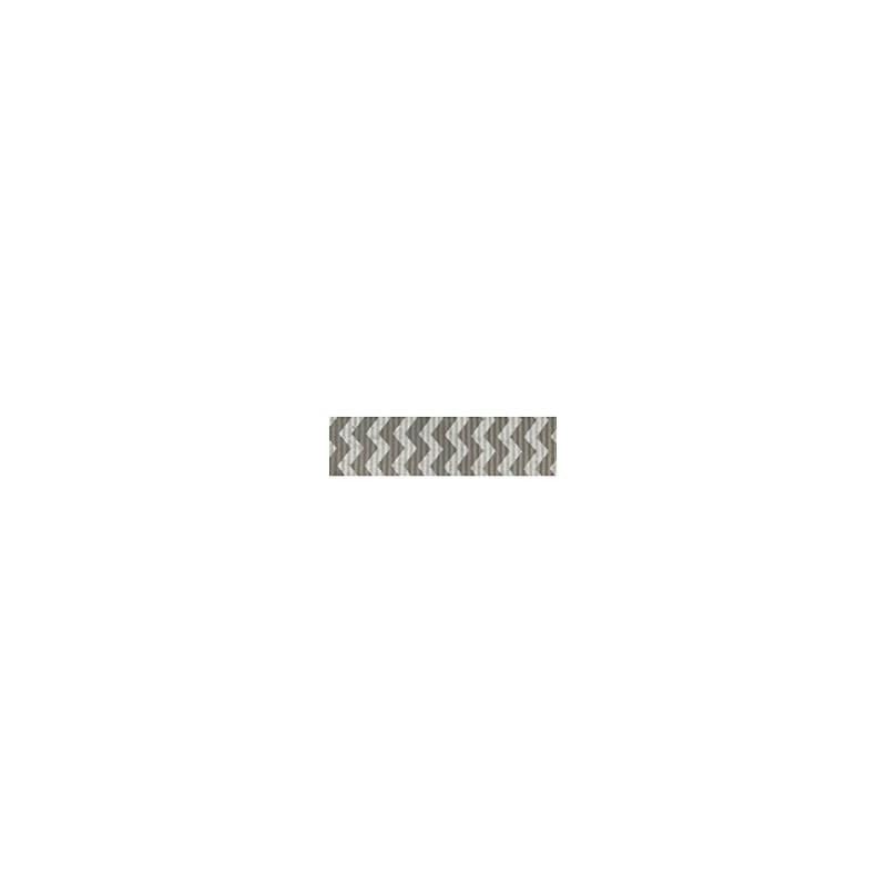 Fita de gorgurao estampada chevron melaço 132100    1.5cm  c/10 mts