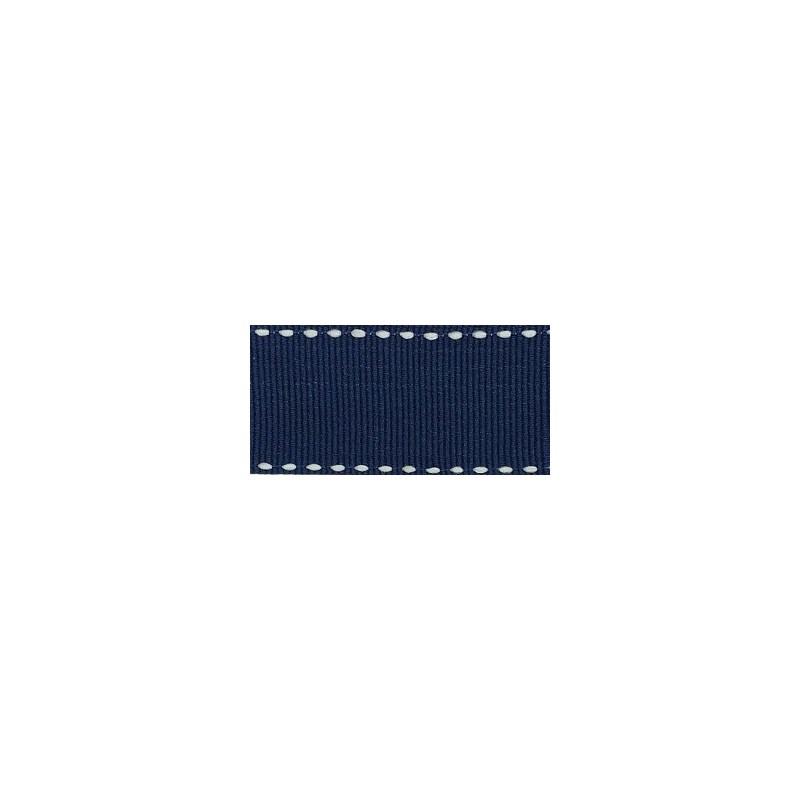 Fita de gorgurão estampada pesponto melaço 161200   4,0 cm c/ 10 mts