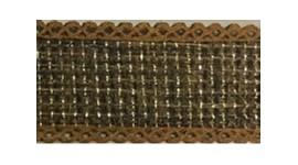 Fita de juta metalizada ref.361200 - 4,0 cm c/ 10 mts Azul claro metal.