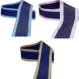 Fita decorativa jeans  1786/38  larg.: 38 mm peça c/ 10 mts