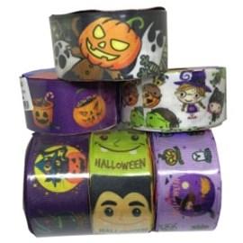 Fita gorgurão decorativa 38 mm  - halloween c/ 10 mts