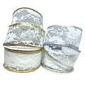 Fita halley renda aramada borda metalizada - 47 mm c/ 9.14 mts