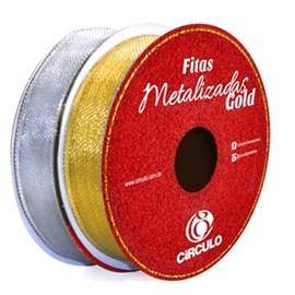 Fita metalizada circulo metalica  15 mm c / 10 mts