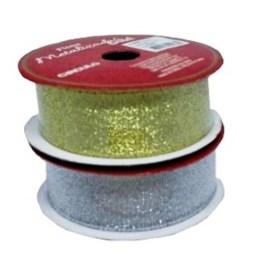 Fita metalizada circulo metalica 25 mm c / 10 mts