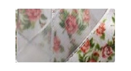 Fita ref 5000/5 - rosas voil/cetim - 23 mm   c/ 10 mts