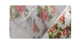 Fita ref 5000/9 - rosas voil / cetim - 38 mm  c/ 10 mts