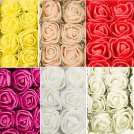 Flor rosa eva 2 cm  c/ 144 unds