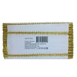 Galão metalizado 1024 larg.: 0,5cm pç  c/ 20 mts