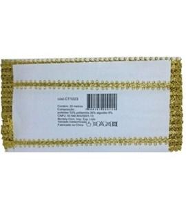 Galão metalizado ref.1023/1024  c/ 20 mts