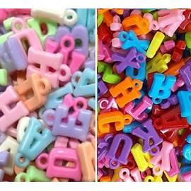 Letras coloridas - aprox. 1.5 x 1 cm x 50 grs