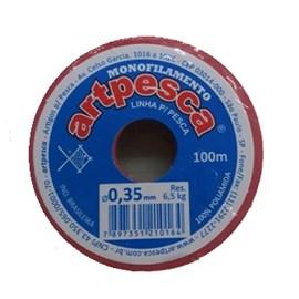 Linha artpesca 0,35 mm c/ 100 mts