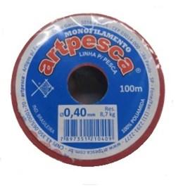 Linha artpesca diametro: 0,40 mm c/ 100 mts