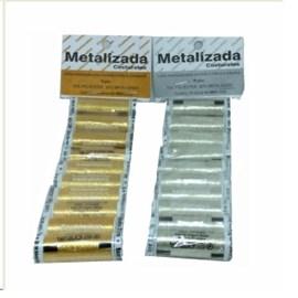 Linha metalizada pct c/ 10 unds de 40 mts