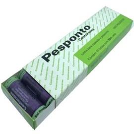 Linha poliester pesponto caixa c/ 10 tubos de 30 m  cada