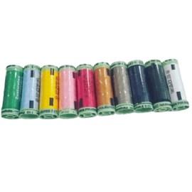 Linha poliester pesponto cores sortidas - 10 tubos - 30 mts cada
