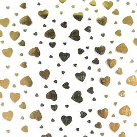 Lonita transparente coração dourado ref. 150533 - 24 x 40 cm