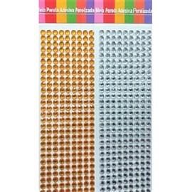 Meia perola adesiva cristal trama  6 mm  c/ 360 unds