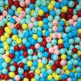 Miçanga 8 mm - cores sortidas - 50 grs