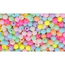 Miçanga  bola multicolorida - 8 mm c/ 50  grs
