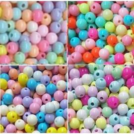 Miçanga  bola multicolorida tam: 8,00 mm pct c/ 50  grs