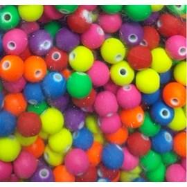 Miçanga bola neon - 8 mm c/ 50 grs
