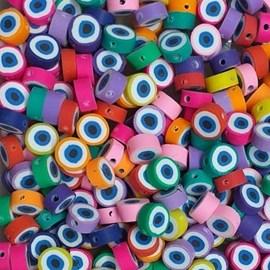 Miçanga emborrachada olho grego  - aprox. 10 mm c/ 40 unds