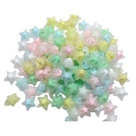Miçanga estrela acrilico fosca ref.150480 - 1.6 cm c/ 25 unds