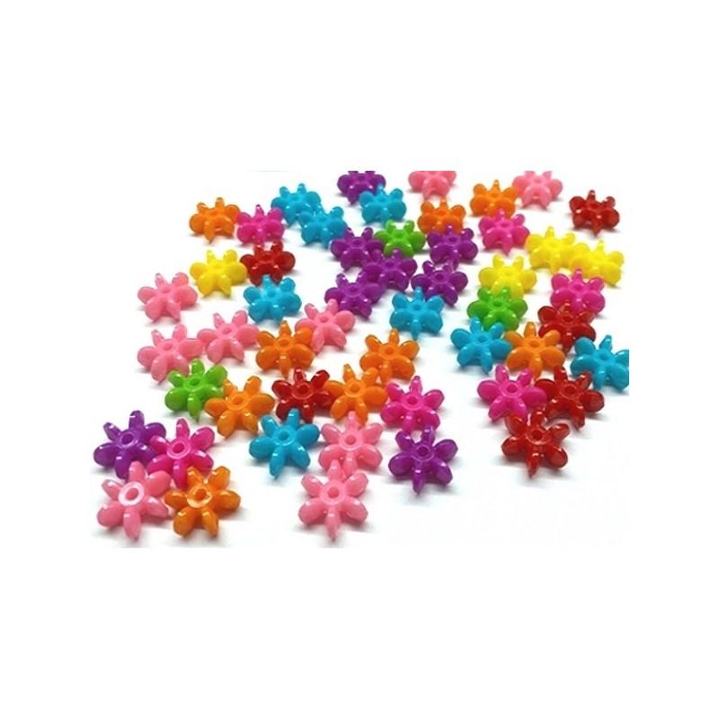 Miçanga florzinha  - cores sortidas - 10 mm c/ 50 grs