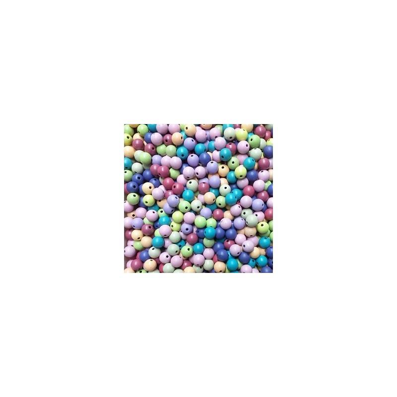 Miçanga fosca cores sortidas - 8 mm c/ 50 grs