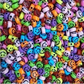 Miçanga smile - cores sortidas - aprox. 6 mm c/ 50 grs