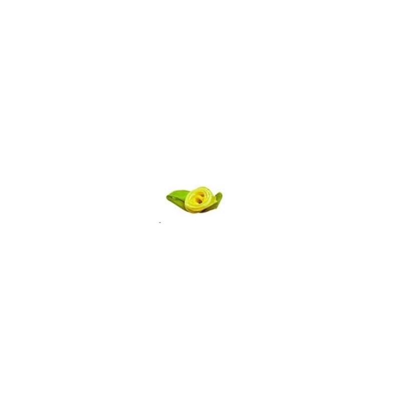 Mini flor rococo com folha ref.100101 c/ 100 unds