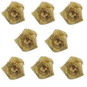 Mini flor rococo metalizada 10mm  ref.300101 c/ 100 unds