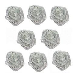 Mini flor rococo metalizada tam.: 13mm pct c/ 100 unds