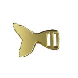 Passa fita acrilico ref.45534 -calda sereia dourado aprox. 2 x 2 cm c/ 5 unds