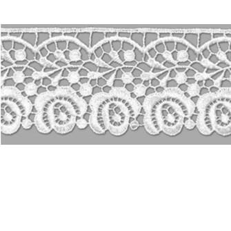 Renda guipire ref. gp 018 - 5.3 cm x 13,7 mts