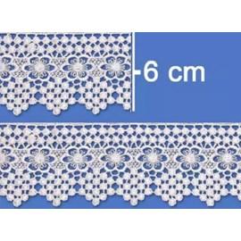 Renda guipure ref. 52.322 - 6.5 cm  c/ 13.7 mts