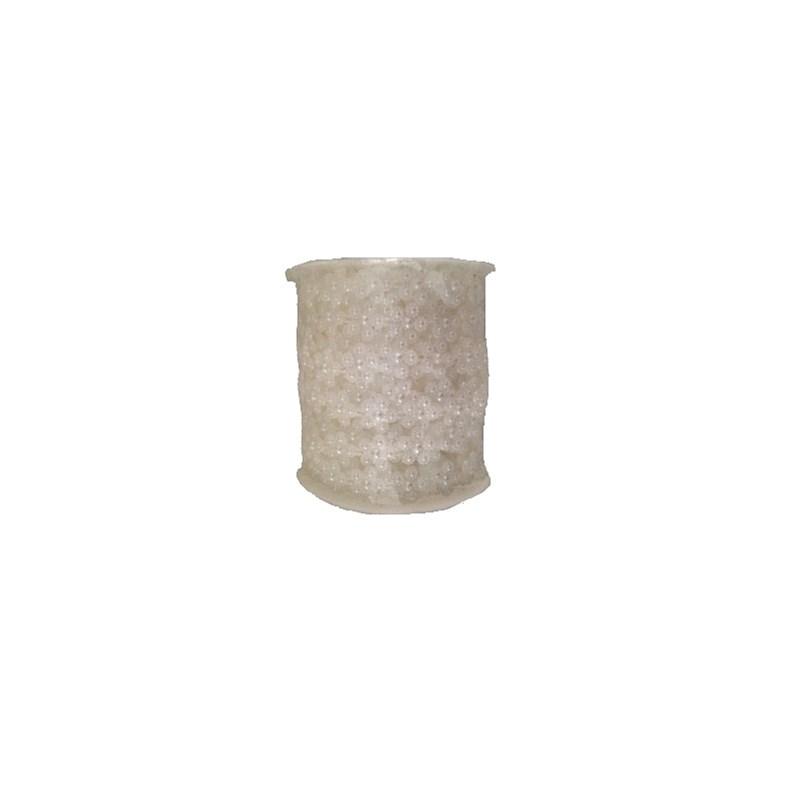 Rolo de perola decorativa flor - rolo c/ 20 mts