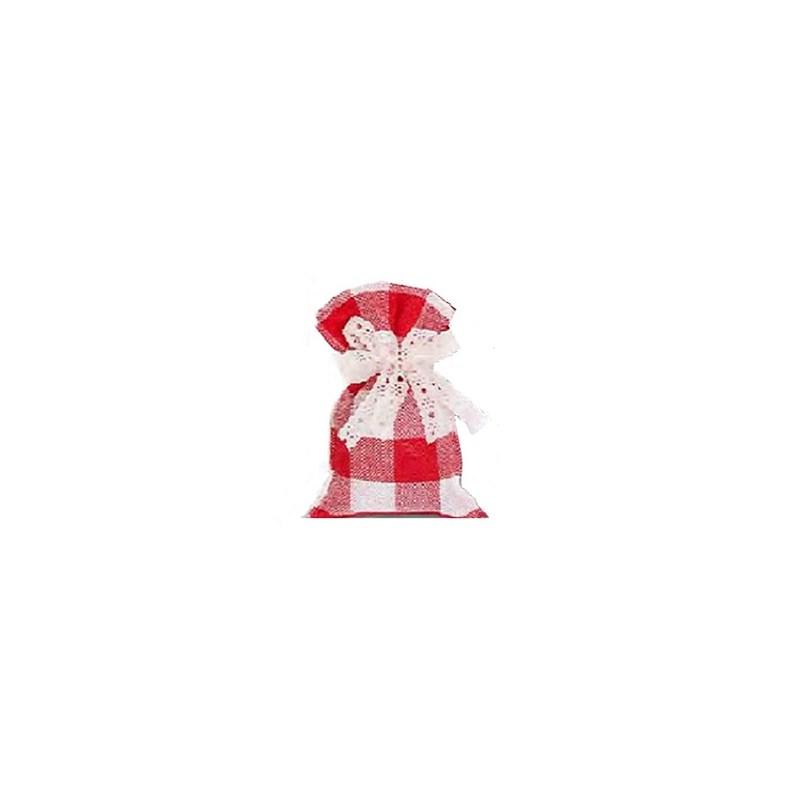 Saco de juta xadrez - 15 x 20 cm c/ 10 unds - ( não acompanha o laço )