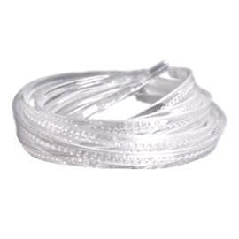 Tiara acrilica transparente - 1 cm c/ 6 unds