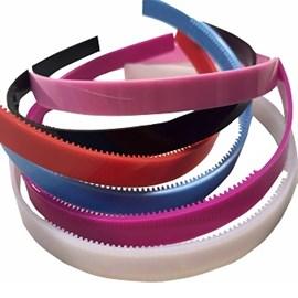 Tiara de plastico inquebravel 1,0 cm - pct c/ 12 unds