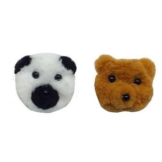 Urso panda  pom pom - 4 cm c/ 2 unds